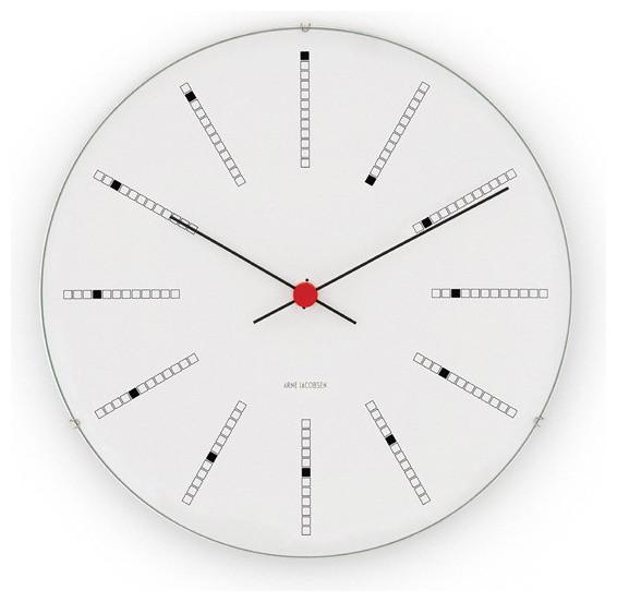 arne jacobsen banker 39 s clock from rosendahl modern. Black Bedroom Furniture Sets. Home Design Ideas