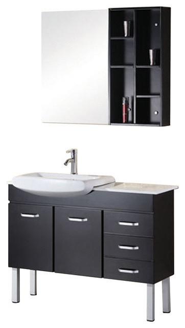 belini 46 double sink vanity set in espresso modern bathroom vanities