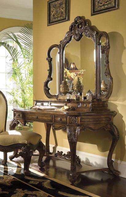 Palais Royale Vanity Desk With Mirror Modern Bedroom Makeup Vanitie