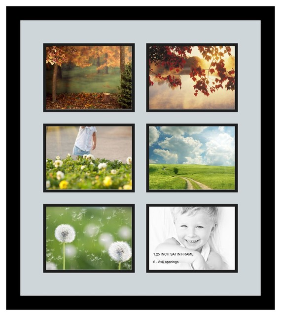 Arttoframes collage photo frame with 6 6x8 openings for Modern collage frame