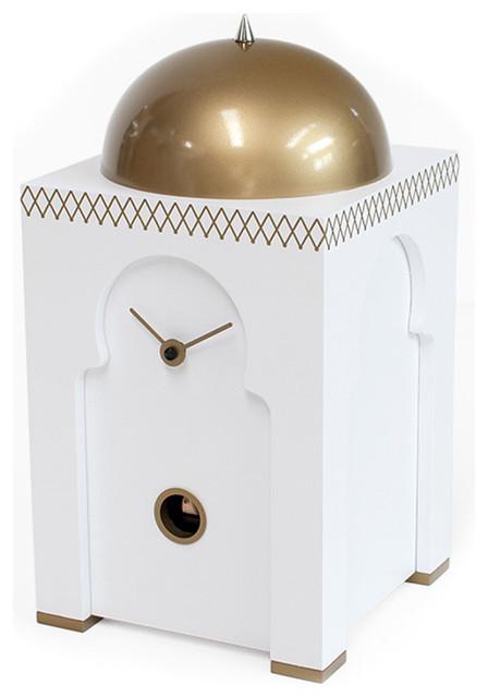Sheikh 2357 White Table Cuckoo Clock Modern Cuckoo