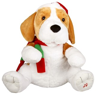 Large singing swaying puppy contemporary christmas for B q christmas decorations