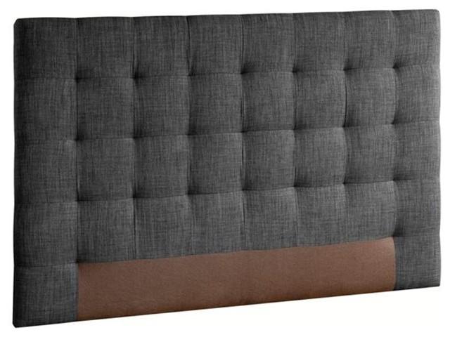 t te de lit capitonn e selve hauteur 100 cm 3 tailles contemporain t te de lit par am pm. Black Bedroom Furniture Sets. Home Design Ideas