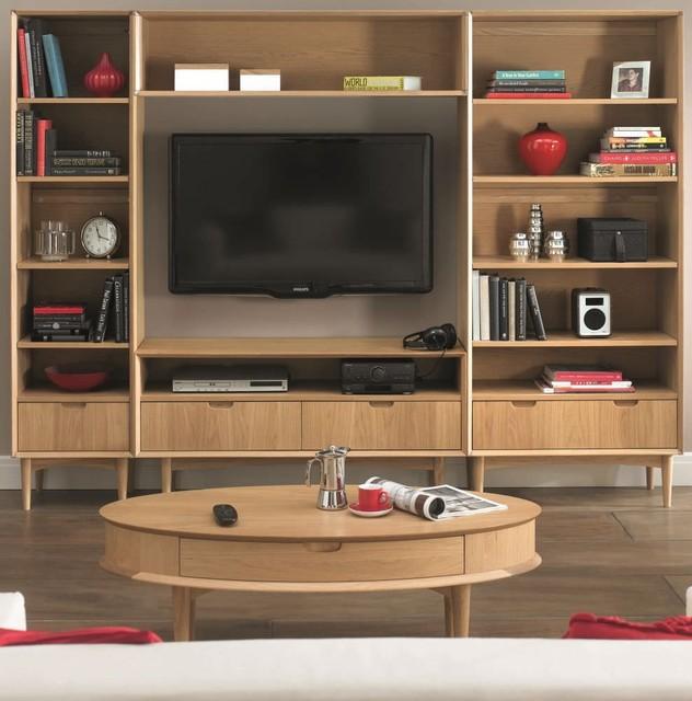 Bentley Designs Oslo Oak Living Room Package Modern TV Stands Units
