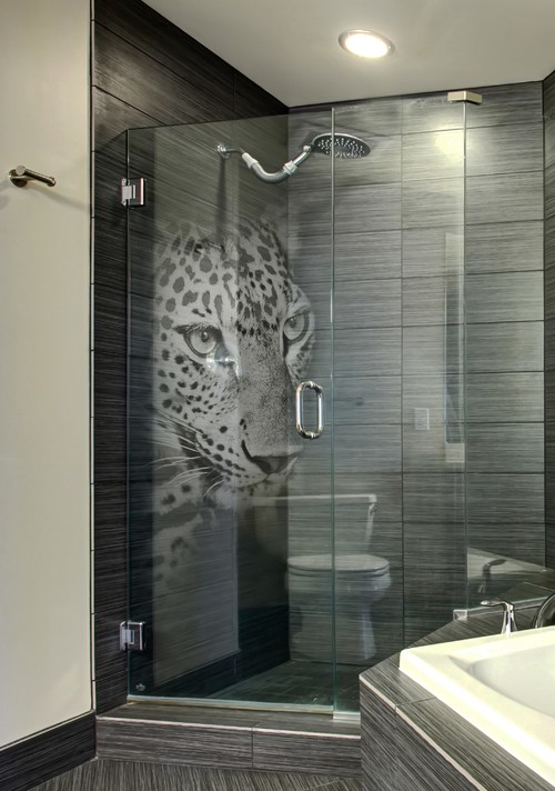 Glass Shower Door Make Over With Panther 3d Laser Print