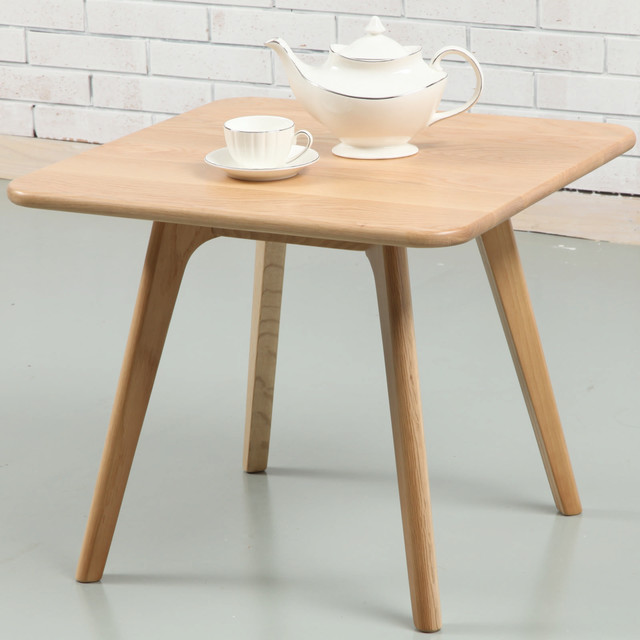 Magnus side table solid oak 60cm x 60cm midcentury for Coffee table 60cm x 60cm