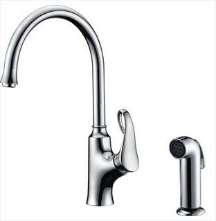dawn ab06 3296c single lever kitchen faucet w spray chrome