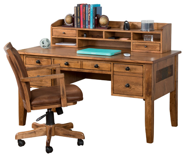 Sedona writing desk with hutch traditional desks and