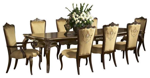 Imperial court dining table set radiant chestnut 10 for 10 piece kitchen table set