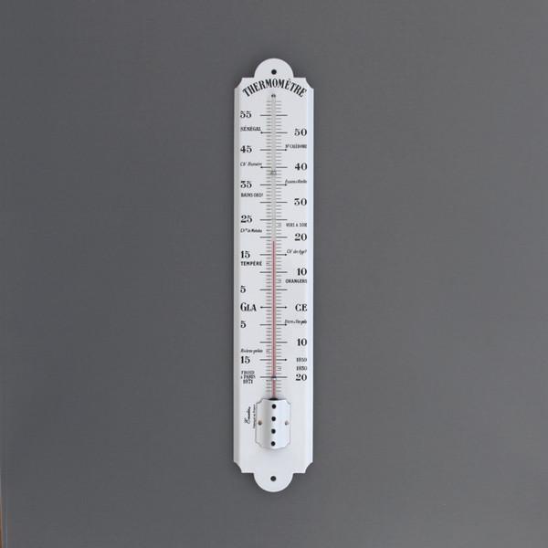 Large thermometer classique thermom tre d coratif - Thermometre exterieur decoratif ...