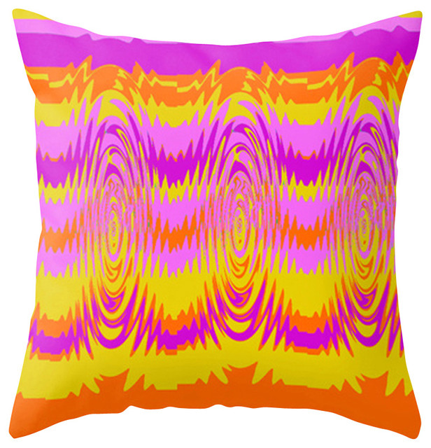 Modern Outdoor Pillow, Orange and Purple - Contemporary - Outdoor Cushions And Pillows - by ...