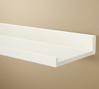 Holman Shelf, Antique White - Traditional - Display And Wall Shelves - by Pottery Barn