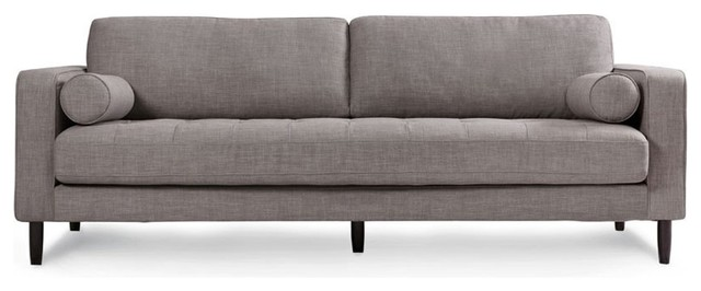 Freeman sofa in grey tweed sofas by capsule home for Gray tweed couch