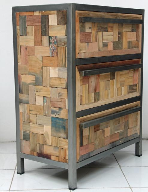 3 Drawer Dresser Storage Cabinet Beach Style Boise