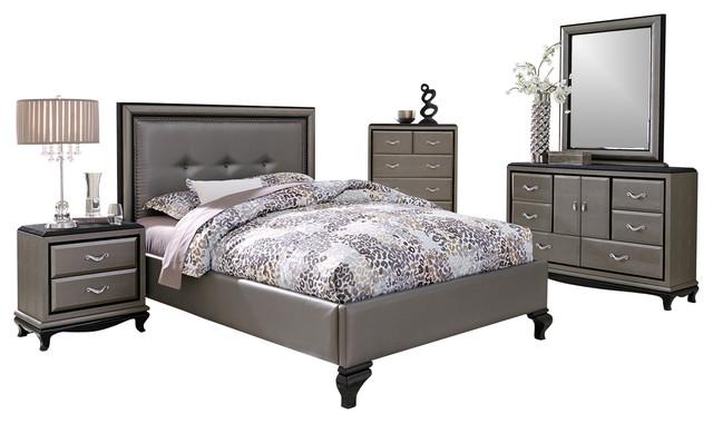 king size bedroom set titanium transitional bedroom furniture sets