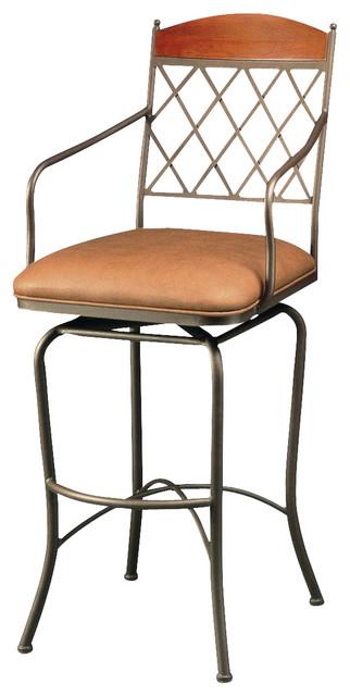 Pastel napa ridge 30 inch barstool florentine coffee - Traditional kitchen bar stools ...