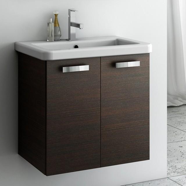 22 Inch Vanity Cabinet With Fitted Sink Contemporary Bathroom Vanities