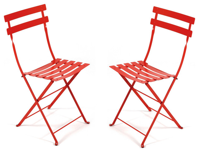 French Bistro Folding Chair Set of 2 Fermob Modern Outdoor Folding Ch