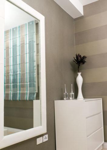 Custom White Framed Mirror Contemporary Bathroom