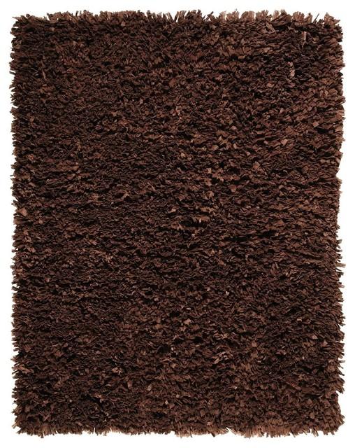 Shag Paper Shag 3 X5 Rectangle Dark Brown Area Rug