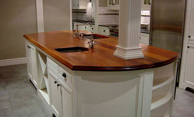 Mahogany Wood Kitchen Island Counter By Grothouse