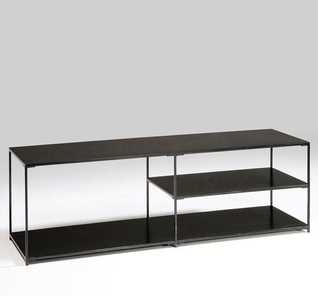 meuble tv m tal romy contemporain solution m dia et meuble tv par am pm. Black Bedroom Furniture Sets. Home Design Ideas