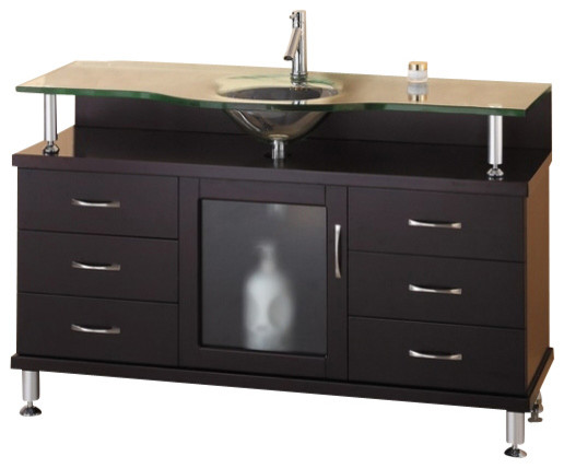 55 Inch Single Sink Bathroom Vanity Modern Bathroom