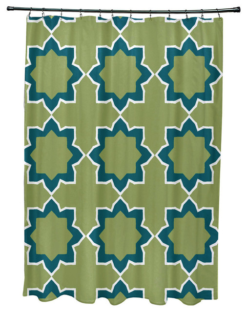 71x74 Bohemian 2 Geometric Print Shower Curtain Contemporary Shower Curtains By E By Design