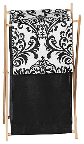 Isabella Black And White Laundry Hamper Hampers By