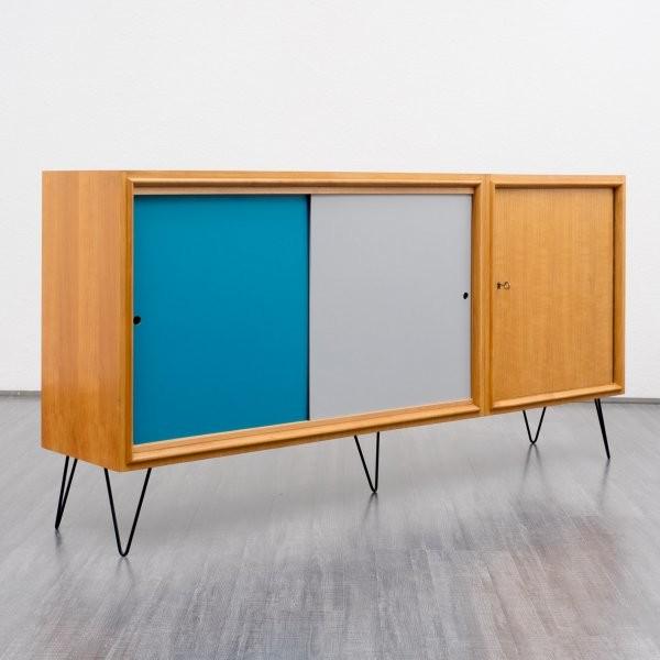 60er jahre sideboard kirschholz hairpinlegs retro aparadores y muebles bajos other metro. Black Bedroom Furniture Sets. Home Design Ideas