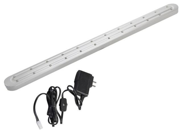 westek under cabinet lighting led slimline nickel bar. Black Bedroom Furniture Sets. Home Design Ideas