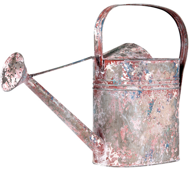 Distressed Metal Decorative Watering Can Farmhouse