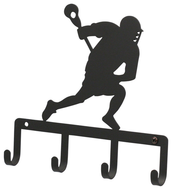Lacrosse Player Key Holder - Curtain Rods - by Village Wrought Iron ...