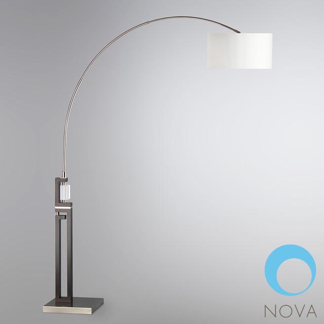 ice arc floor lamp nova modern floor lamps los. Black Bedroom Furniture Sets. Home Design Ideas