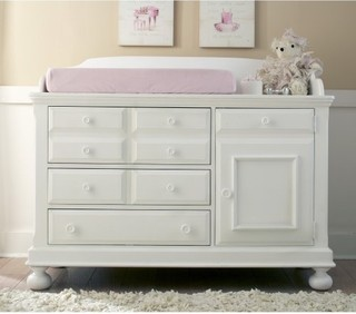 ... Dresser in Rubbed White - Traditional - Changing Tables - by Hayneedle