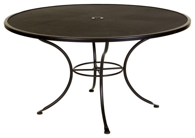 "Standard Mesh 54"" Round Dining Table With 2"" Umbrella Hole"