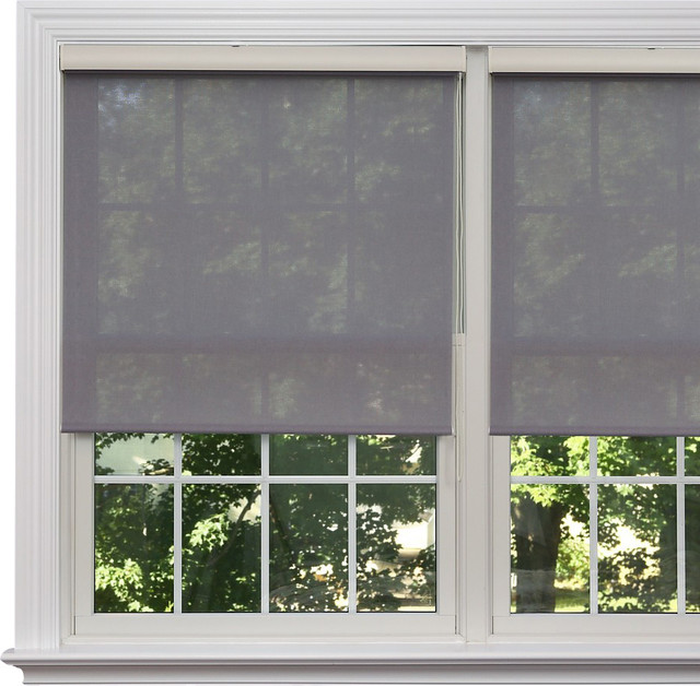Premium linen look roller window shade 24 to 36 wide 64 for Blinds for long windows