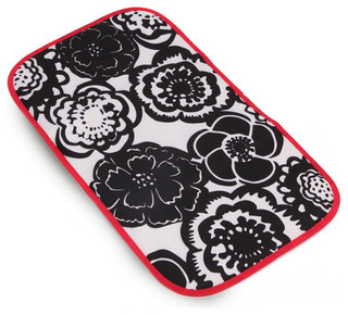 On Sale Memory Foam Changing Pad in Onyx Blossoms - Modern - Changing ...