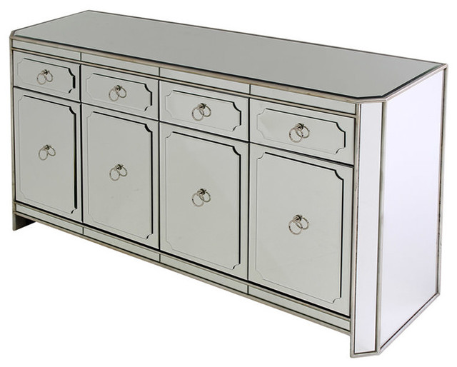 Chapman Mirrored Dresser Transitional Bedroom Miami By El Dorado Furn