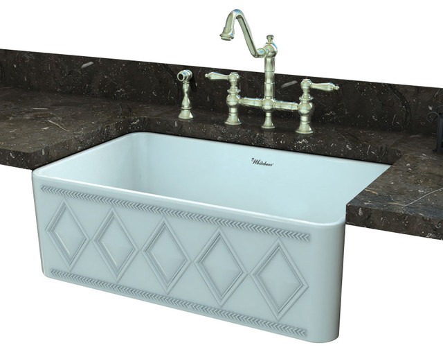 Fire Clay Sinks : ... Fireclay Farm Kitchen Sink - Traditional - Kitchen Sinks - by Blue
