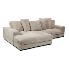 Plunge Sectional, Cappuccino   Sectional Sofas