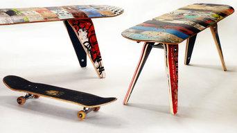 Deckbench - Recycled Skateboard Bench