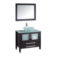 Bathroom Vanity Glass Top glass-top bathroom vanities | houzz