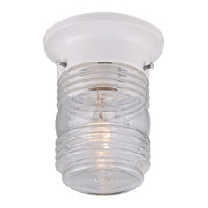 Hardware House Outddor Jelly Jar Ceiling Fixture, White