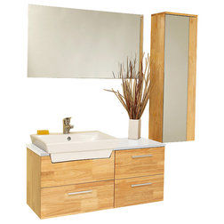 Lovely Modern Bathroom Vanities And Sink Consoles by Burroughs Hardwoods Inc