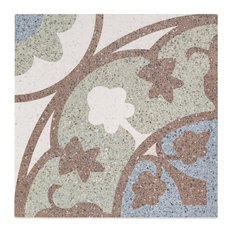 "Branwell 9""x9"" Porcelain Field Tile, Brown/Green/Blue"
