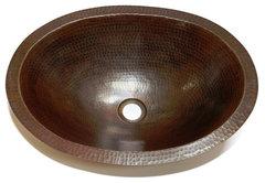 zion oval bathroom copper sink more info