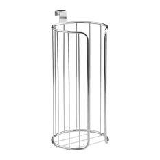 iDesign Classico Over-the-Tank Vertical Toilet Tissue Holder, Chrome