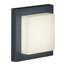 Hondo 1 Light Outdoor Wall Light in Dark Grey