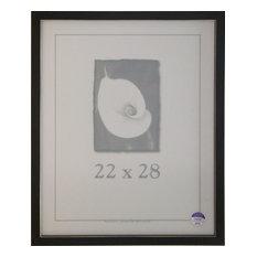 Black Clean Cut Picture Frame, 22x28